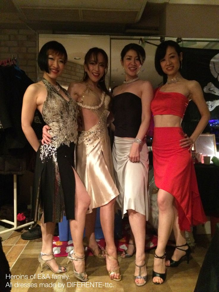Heroines of E&A family. All dresses made by DIFERENTE-tokyo tango clothes.
