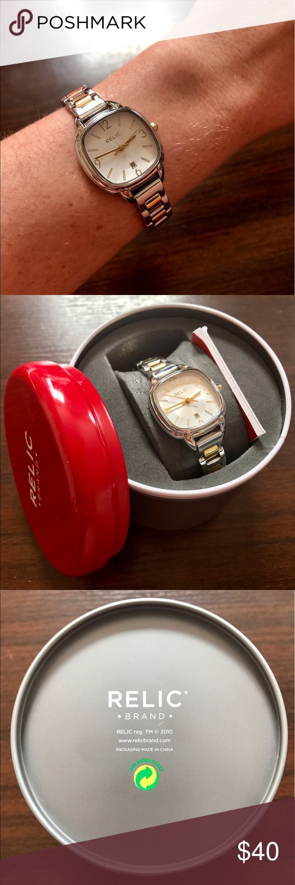 Two-tone Relic Watch Silver & Gold Women's Watch. Relic Accessories Watches
