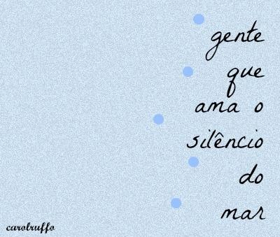 aproveite o silêncio:)