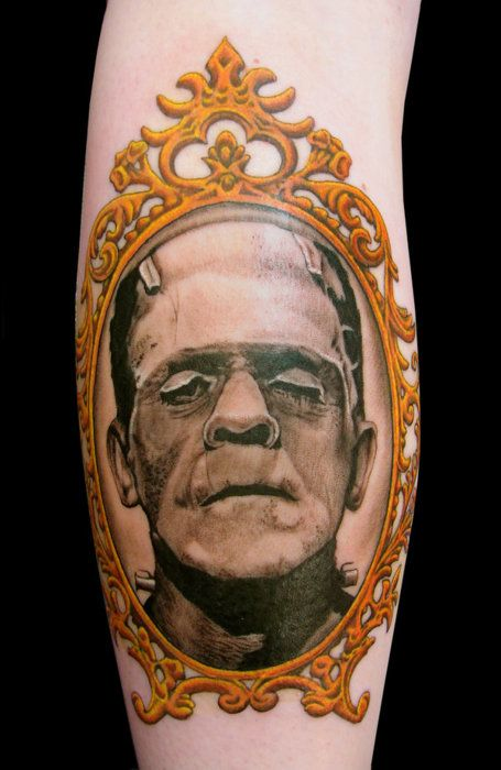 classic monster tattoos | Frankenstein Tattoo Monster Universalmonster Horror Classic: Tattoo Ideas, Frankenstein Portraits, Frankenstein Monsters, Portraits Tattoo, Monsters Tattoo, Ink Tattoo, Literary Tattoo, Tattoo Ink, Frankenstein Tattoo