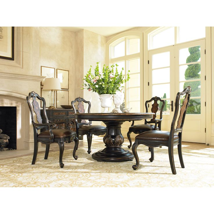 Lowest price online on all Hooker Furniture Grandover Pedestal Dining Table  with Leaf  14 best Round table and chairs images on Pinterest   Round tables  . Arlington Round Sienna Pedestal Dining Room Table W Chestnut Finish. Home Design Ideas