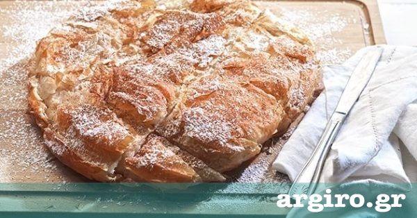 Μπουγάτσα από την Αργυρώ Μπαρμπαρίγου | Σπιτικό γλυκό, με τραγανά φύλλα και γλυκιά σιμιγδαλένια γέμιση. Όπως λέει και ο τίτλος της, είναι απλά θεϊκή!