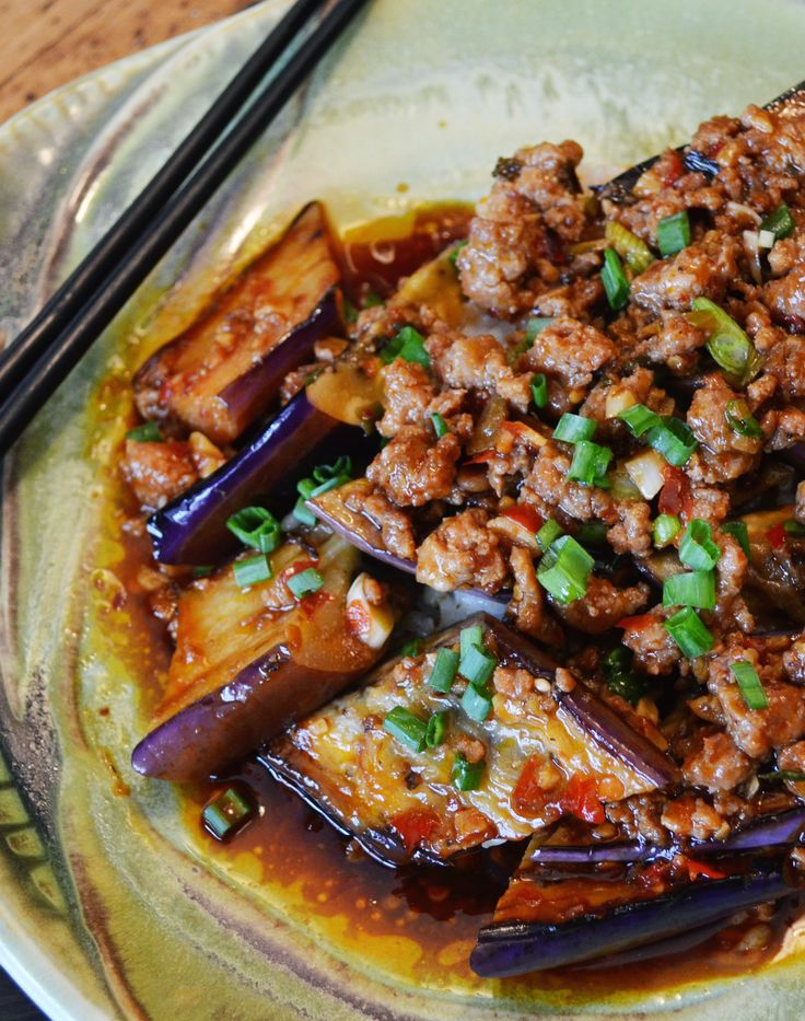 51 best chinese cooking images on pinterest chinese food chinese ma po eggplant in garlic sauce forumfinder Choice Image