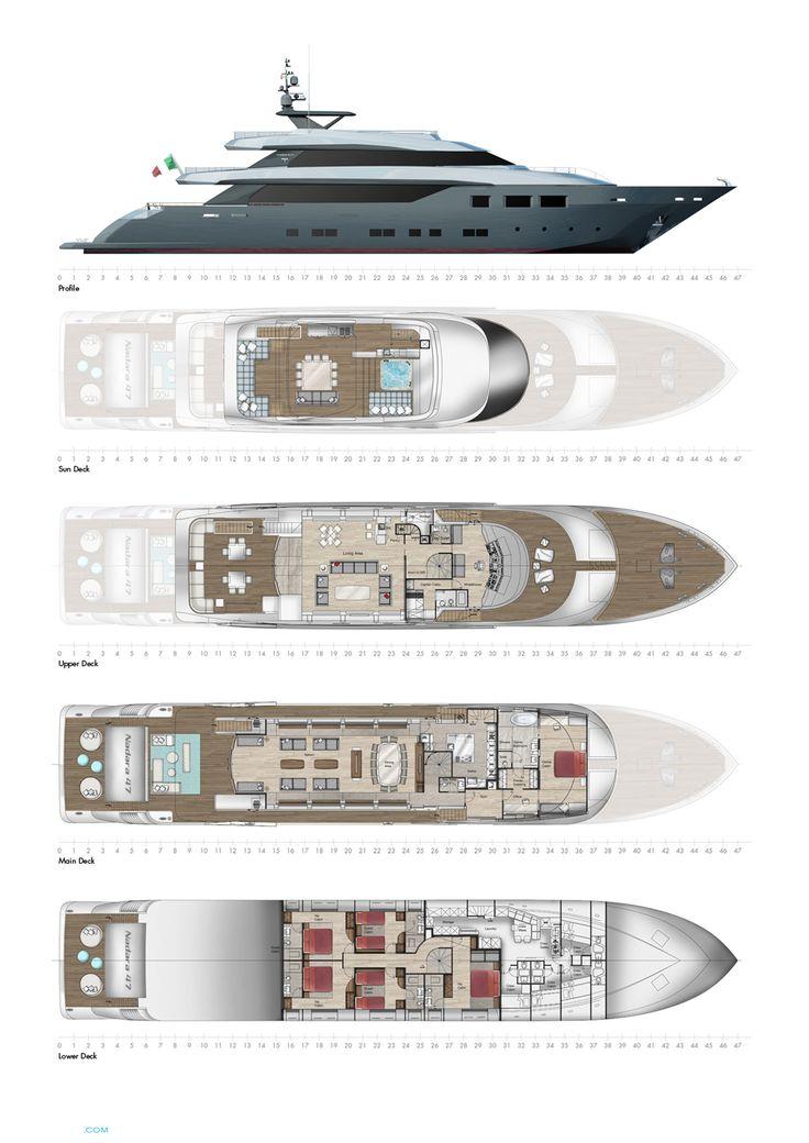 Nadara 47 Yacht for Sale Layout Tecnomar .. | superyachts.com