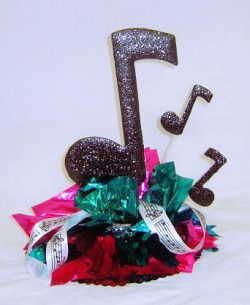 50's Rock and Roll Music Centerpiece Tablescapes