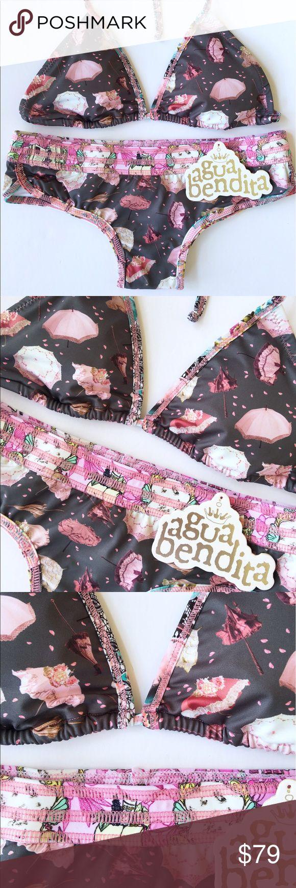 NWT agua bendita bikini made in colombia size s Beautiful new with tags bikini set. By Agua Bendita, made in colombia, small size, with removable pads. Agua Bendita Swim Bikinis