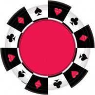 Place Your Bets Dinner Paper Plates Pkt8 $13.95 A591227