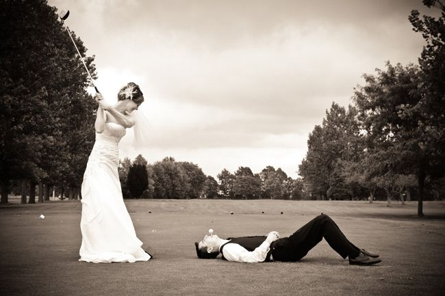 We're getting married at a golf course...we just have to :)