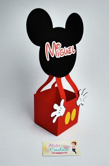 Balão Mickey Centro de Mesa