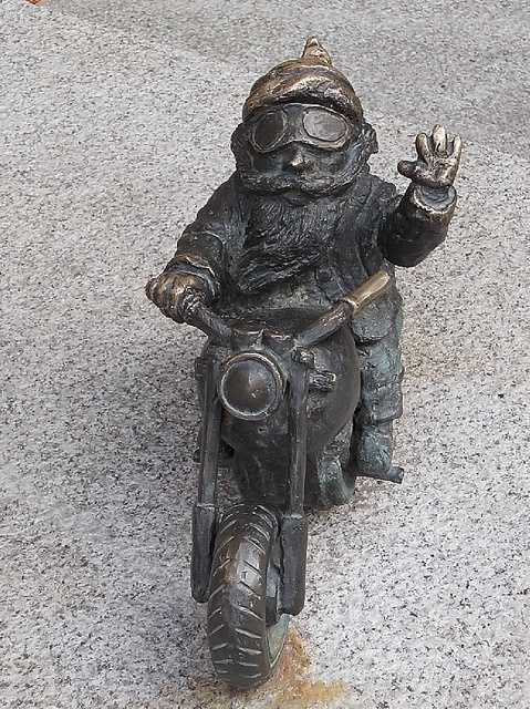 Wroclaw, Biker gnome by termitesauce, via Flickr