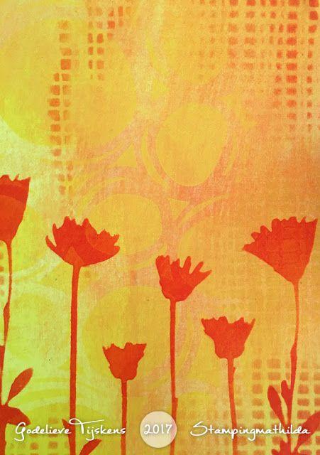 Using Darkroom Door stencils in your art journal