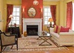 Coral Living Room Bedroom Color Blends Diy Decorating Ideas Coral Accent Wallsaccent