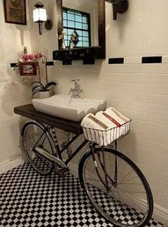 Bathroom Idea - Bicycle Sink | A Little Bit of This, That, and Everything