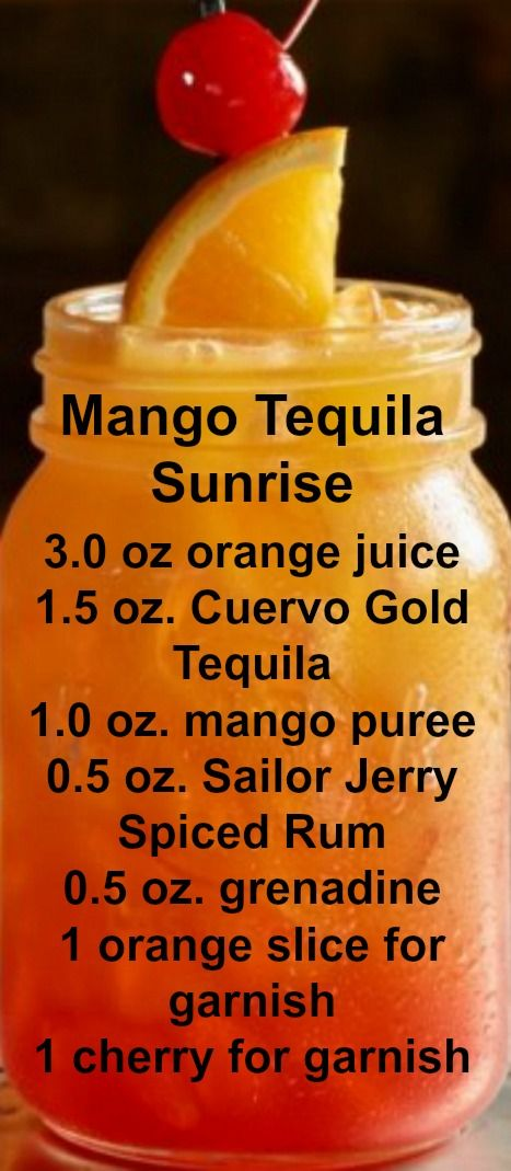 Mango Tequila Sunrise Recipe
