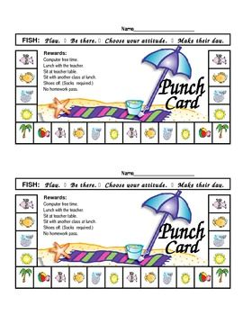 Tropical Punch Cards for Rewards FISH Philosophy-Focused