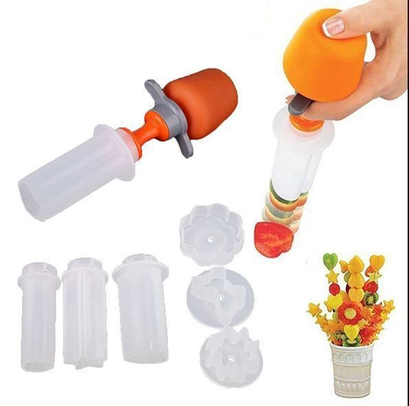 POP CHEF Fruit Decoration Tool DIY Fruit Carving Tool Set Kitchenware #Unbranded