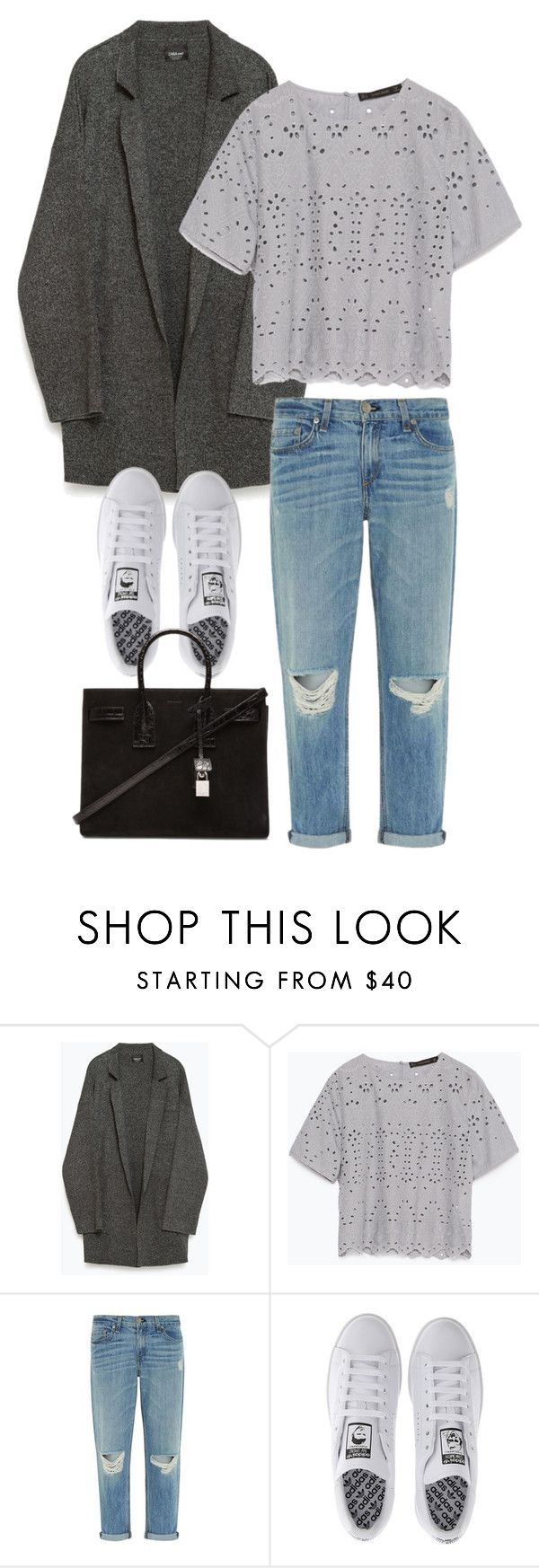 """Untitled #3208"" by bubbles-wardrobe ❤ liked on Polyvore featuring Zara, rag & bone, adidas and Yves Saint Laurent"