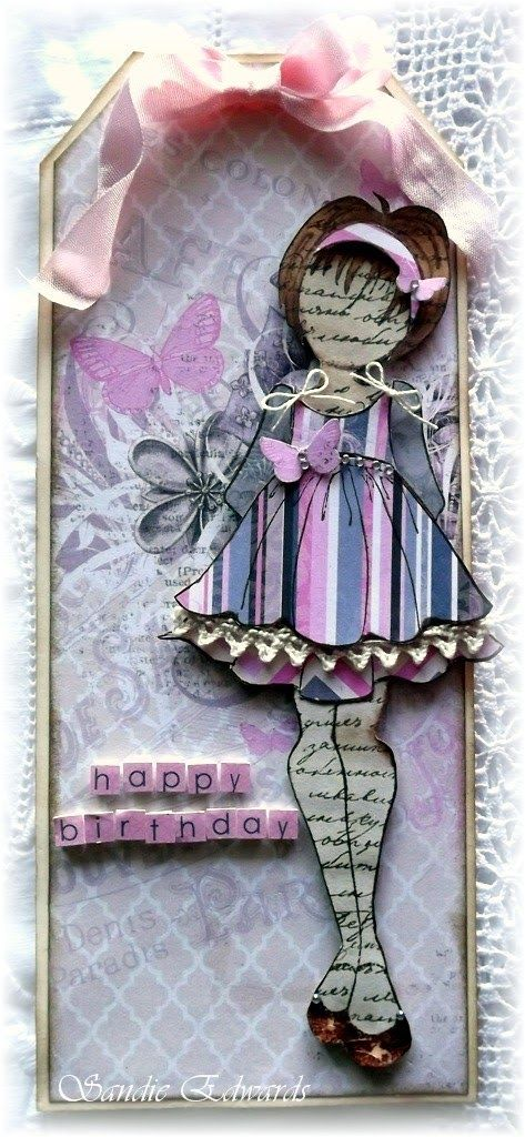 Delightfully Crazy: Mixed Media Doll Stamp Tags and Cards - The Scrapbook Store