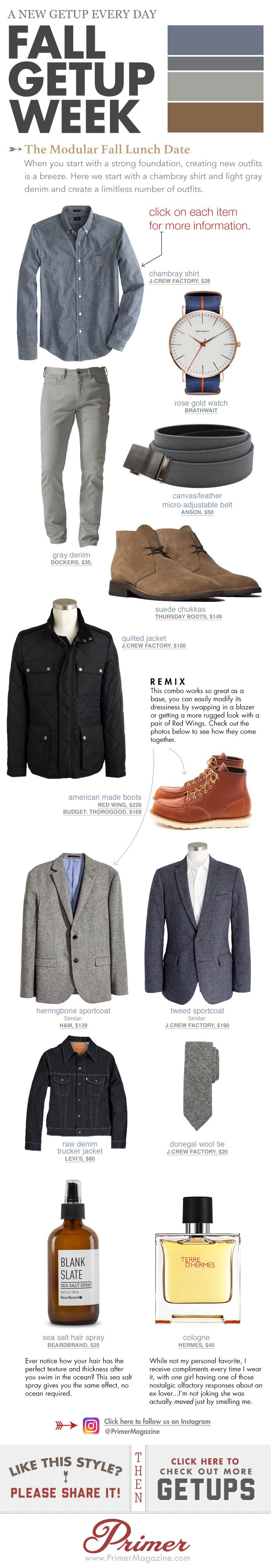 Fall Getup Week: The Modular Fall Lunch Date + 5 Variations! | Primer