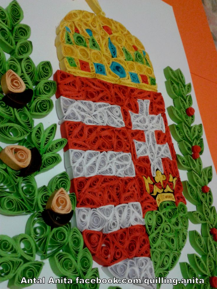 quilling Hungarian coat of arms quilling magyar címer
