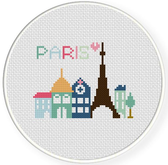 Paris Cross Stitch Pattern