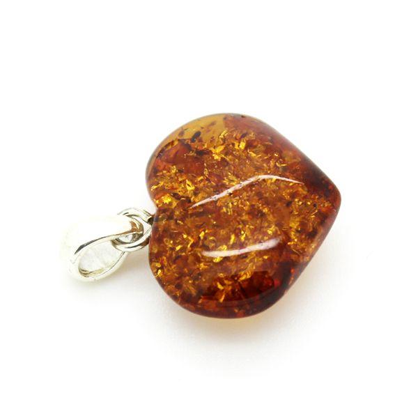Small amber heart