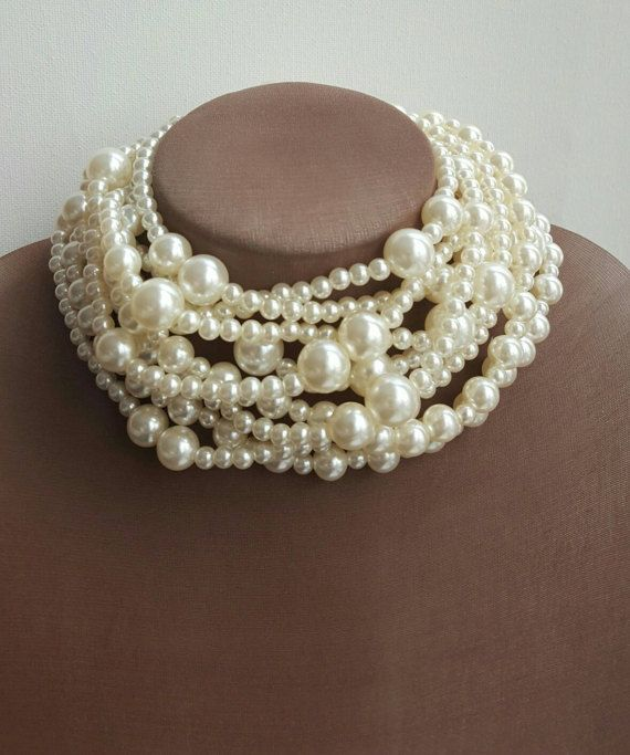 Check out this item in my Etsy shop https://www.etsy.com/ca/listing/511136269/thick-choker-necklace-multistrand-pearl