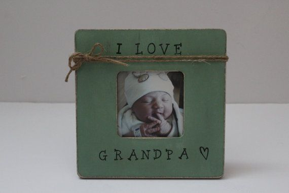 Grandpa Picture Frame Sage Green Photo Frame by MyRusticPlace