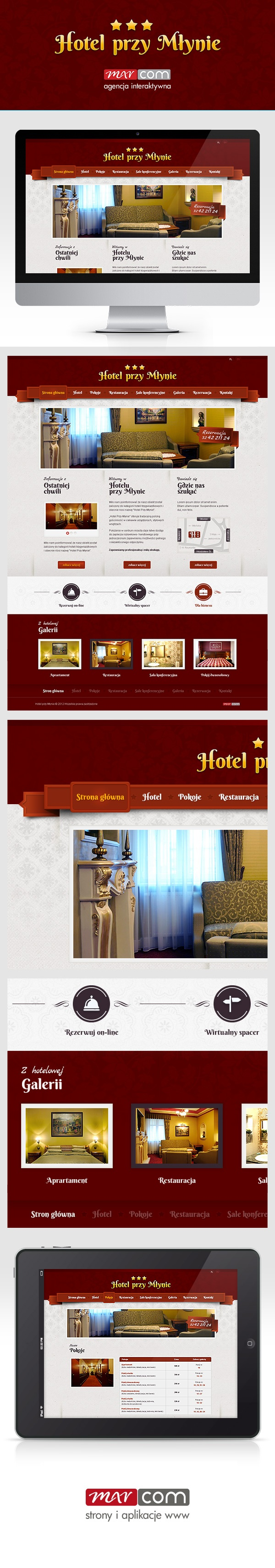 Strona internetowa Hotelu Przy Młynie w miejscowości Rybnik - projekt to wielojęzyczność, rozbudowane galerie, CMS.   Więcej:  http://e-marcom.pl/aktualnosci,56,hotel-przy-mlynie-nowy-klient-nowa-strona-www.html   ------  Hotel website webdesign