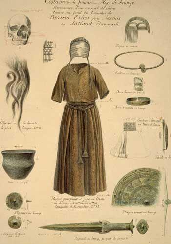 Bronze Age. Kvinden fra Borum Eshøj.