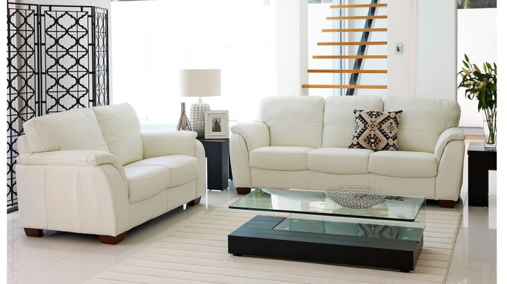 Alyssa 2 Piece Leather Lounge Suite