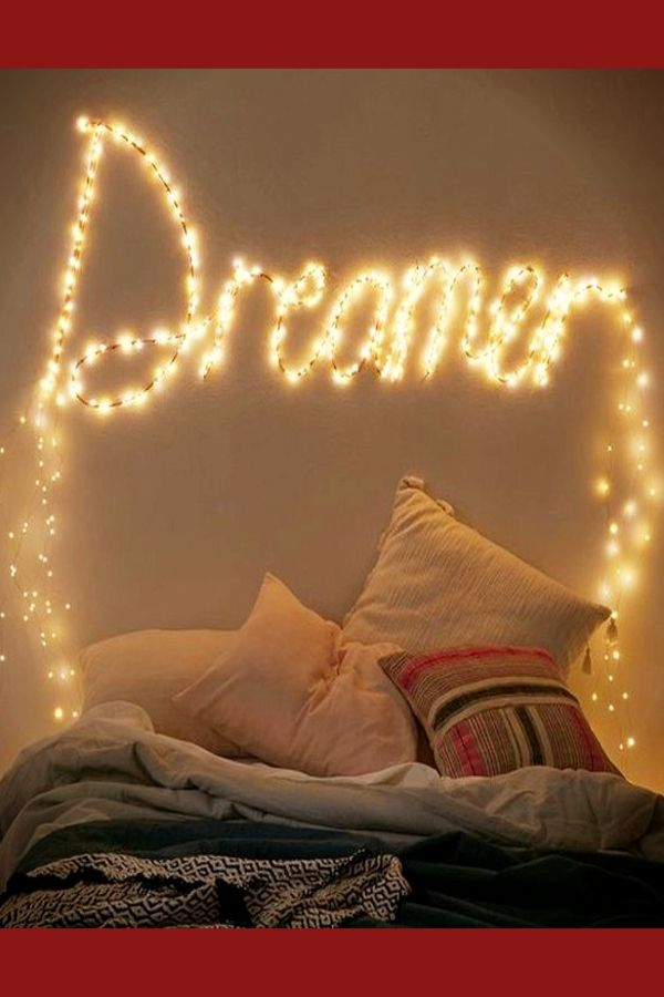 How To Decorate Your Room Without Buying Anything Decorating Tips Tricks Decorate Your Room Bedroom Diy Fairy Lights Decor