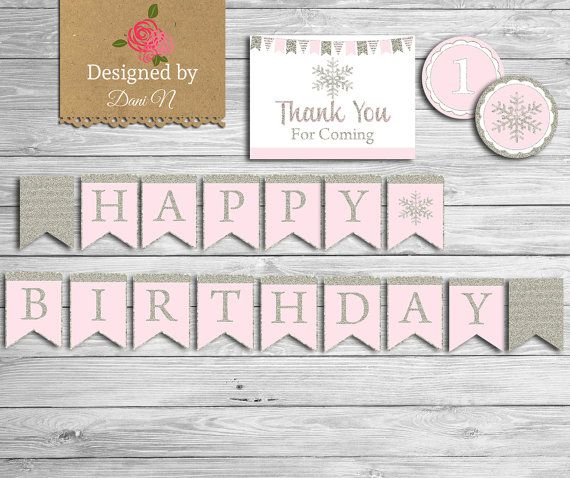 Snowflake Birthday Party Package Onederland by DesignedbyDaniN
