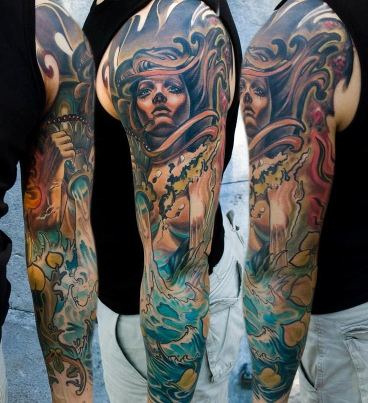 Full tattoo sleeve #tattoos