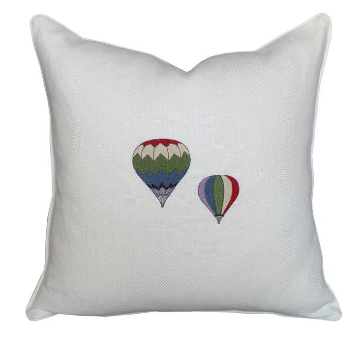 Linen Hot Air Balloons Pillow