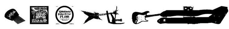 free download Gtartings font - keywords: guitar brand logos gitarren