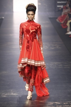 Self Red Design, It's striking #indian #fashion salwar