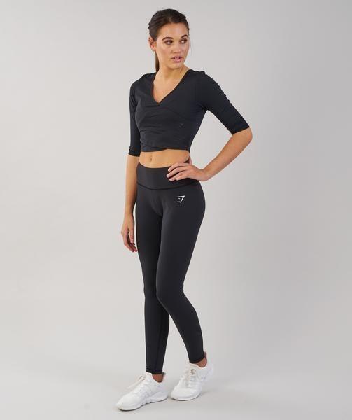 a5a5a0fbf6d5 Gymshark Ballet Crop Top - Black 4 | Fitness Weight Loss | Black ...