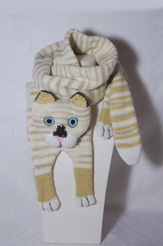 Katze Schal siamesische Katze Tier strickend von Eastalace auf Etsy