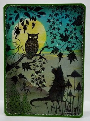 BaRb'n'ShEll Creations -  Night Forest, Lavinia stamps - BaRb