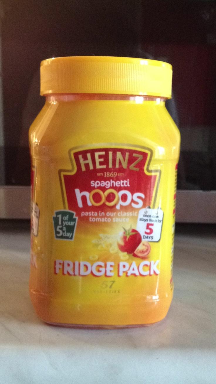 Heinz Spaghetti Hoops - fridge pack jar. Class.