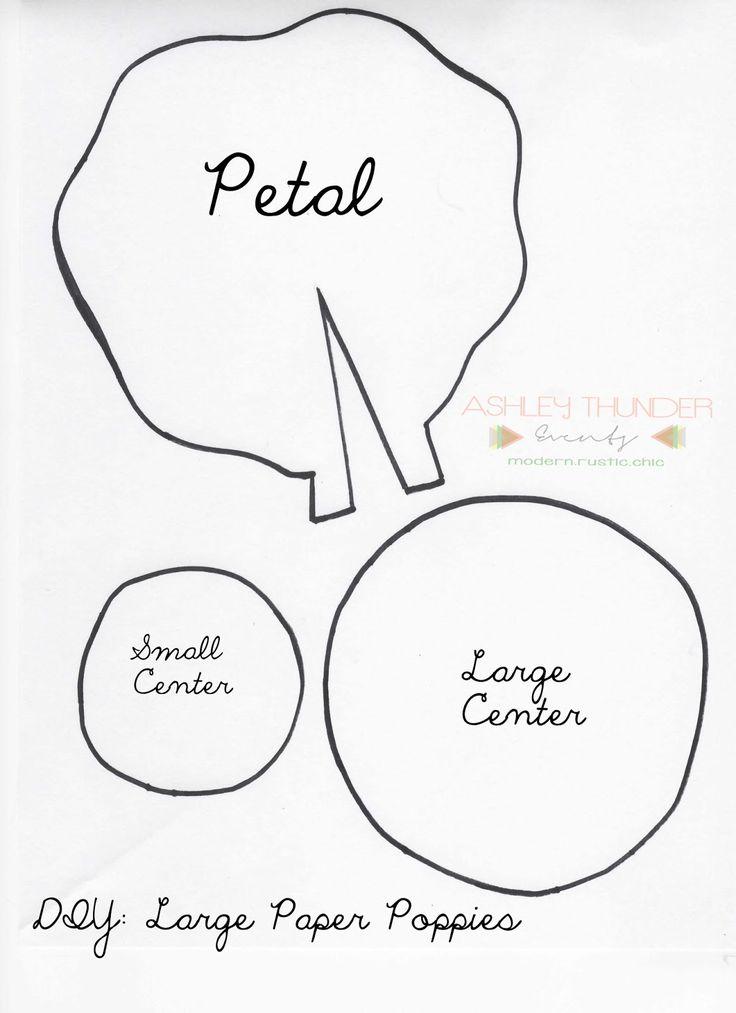 Best 25+ Poppy Template Ideas On Pinterest   Paper Flowers Diy