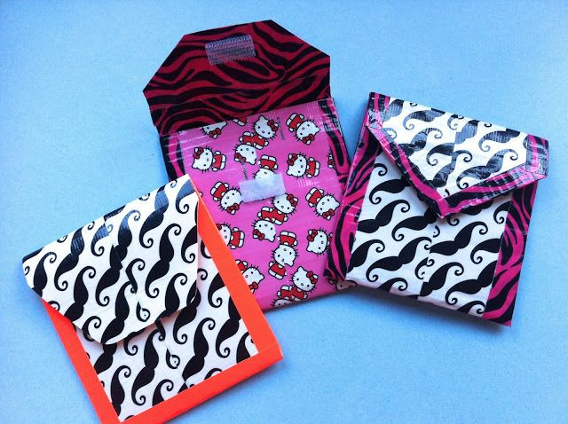 Duct Tape Pockets-I don't really like the duct tape patterns that they chose, but I love the pockets