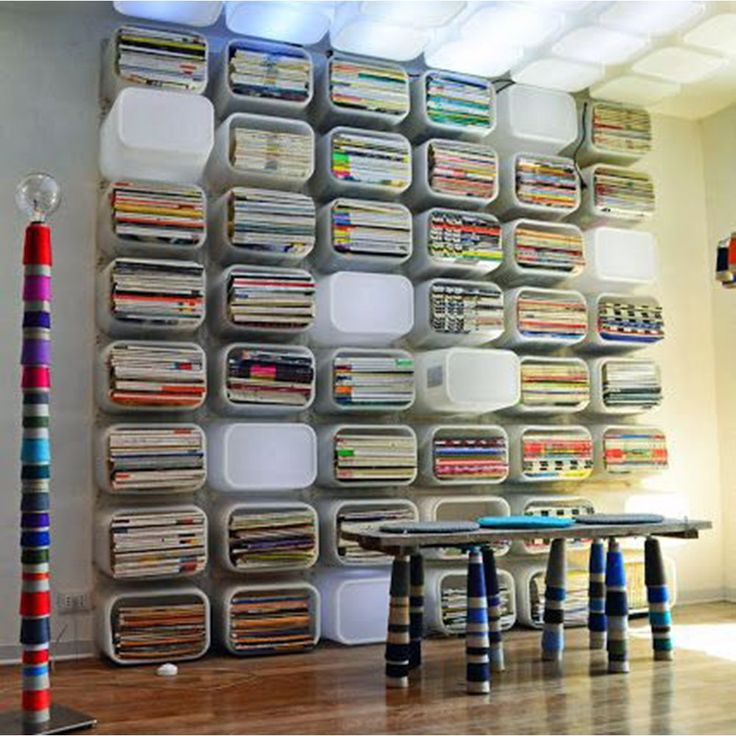 Caisses plastiques en étagères