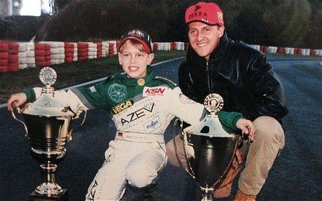 schumi with Seb Vettel