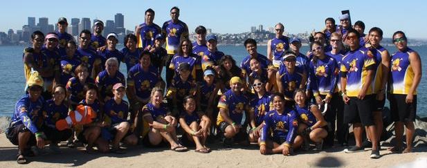 Killer Guppies Dragon Boat Team in their ATAC Sportswear Custom Dragon Boat Jerseys