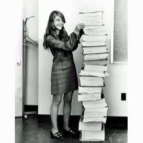 Margaret Heafield Hamilton (born August 17, 1936) is a computer scientist, systems engineer, and business owner. She was Director of the Software Engineering Division of the MIT Instrumentation Laboratory, which developed on-board flight software for the Apollo space program. In one of the critical moments of the Apollo 11 mission, Hamilton's team's work prevented an abort of landing on the moon. #bebrave #womeninhistory