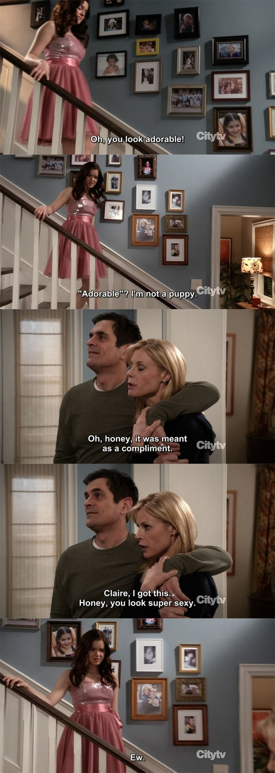 Classic Phil! Who doesn't love phil modern family ty burrell ariel winter alex dunphy