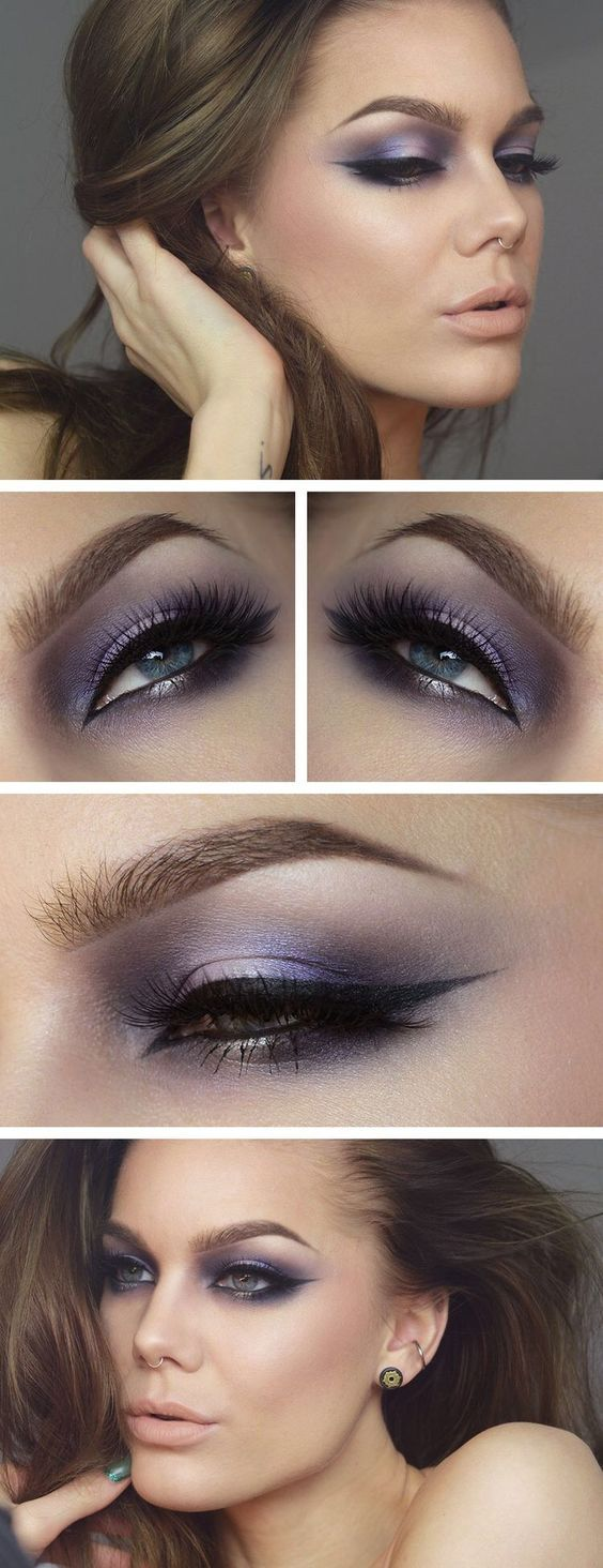 Pretty Purple Eyeshadow Perfectly blended for Dramatic Look