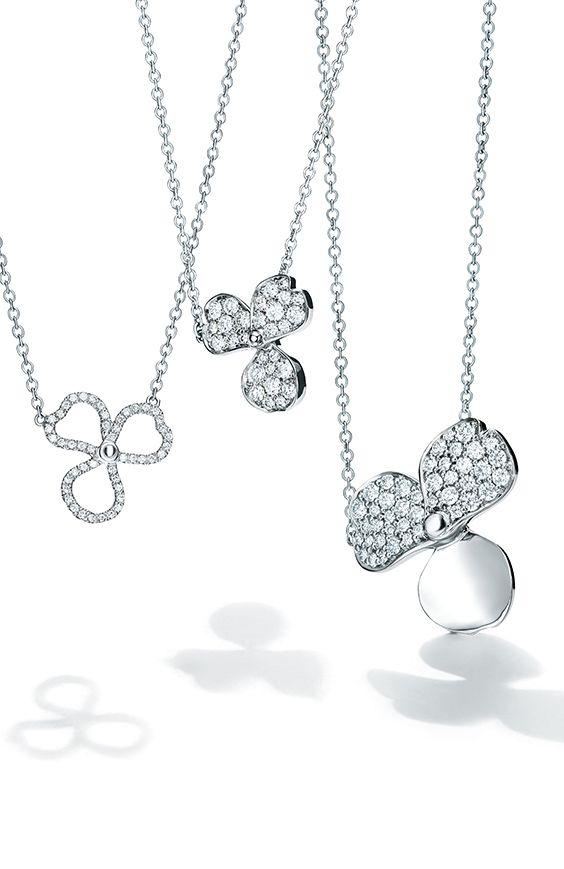 a76ee4b2c Tiffany Paper Flowers™ pendants in platinum. | Tiffany Necklaces in 2019 | Tiffany  necklace, Tiffany jewelry, Locket necklace